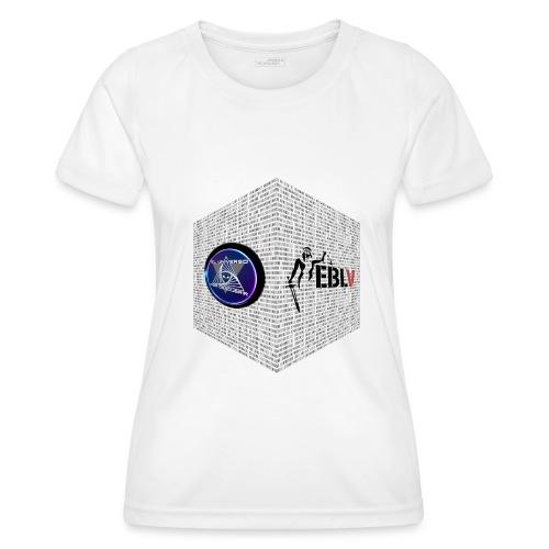disen o dos canales cubo binario logos delante - Women's Functional T-Shirt