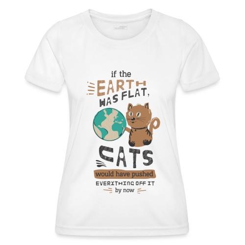 IF THE EARTH WAS FLAT - Funksjons-T-skjorte for kvinner