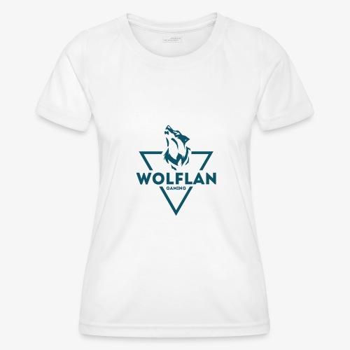 WolfLAN Logo Gray/Blue - Women's Functional T-Shirt