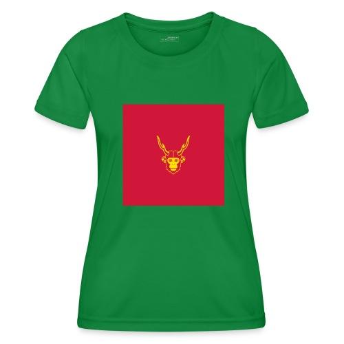 scimmiacervo sfondo rosso - Maglietta sportiva per donna