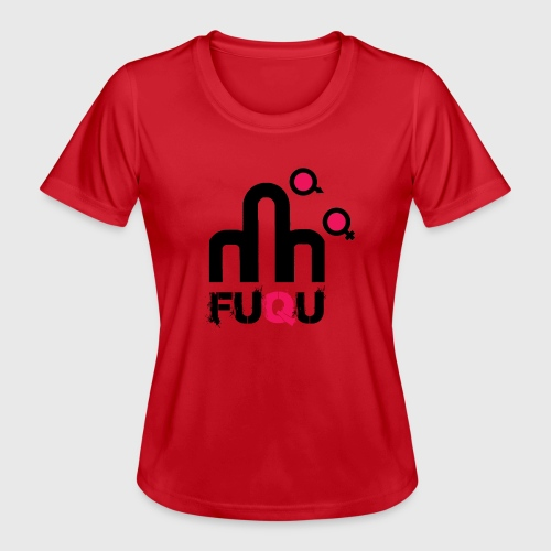 T-shirt FUQU logo colore nero - Maglietta sportiva per donna