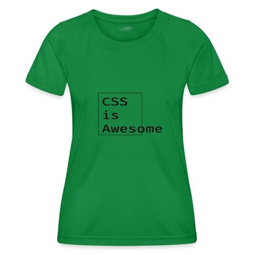 cssawesome - black - Functioneel T-shirt voor vrouwen