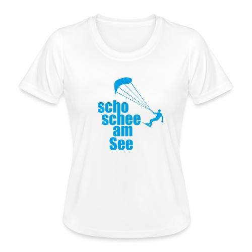 scho schee am See Surfer 01 kite surfer - Frauen Funktions-T-Shirt