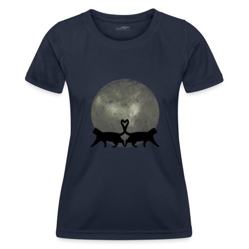 Cats in the moonlight - Functioneel T-shirt voor vrouwen