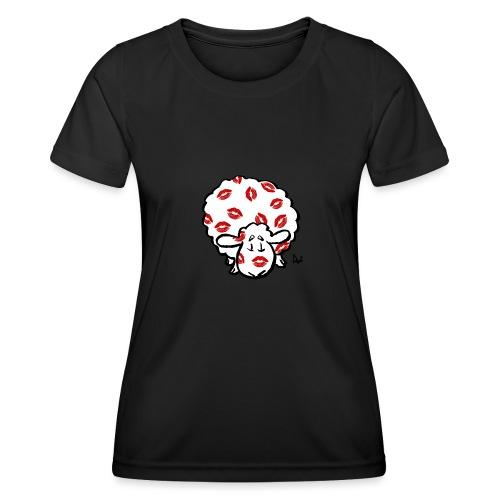 Kuss Mutterschaf - Frauen Funktions-T-Shirt