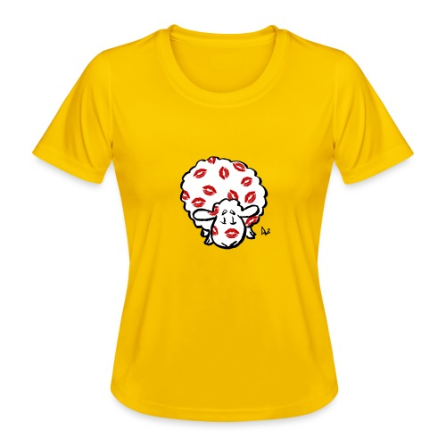 Kuss Mutterschaf - Frauen Funktions-T-Shirt