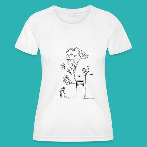 Carta_gatta-png - Maglietta sportiva per donna