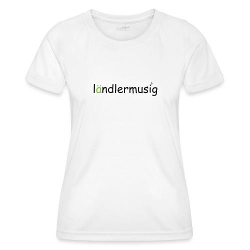 ländlermusig schwarz/grün - Frauen Funktions-T-Shirt