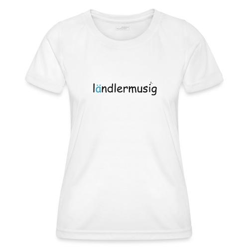 ländlermusig schwarz/blau - Frauen Funktions-T-Shirt