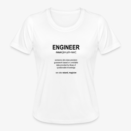 Engineer Def. 1 (Black) - T-shirt sport Femme