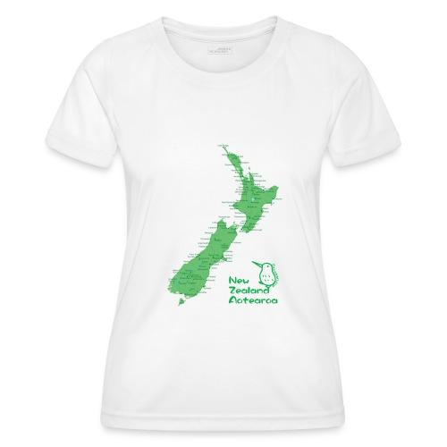 New Zealand's Map - Women's Functional T-Shirt