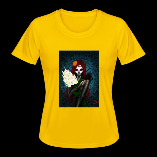 Death and lillies - Women's Functional T-Shirt