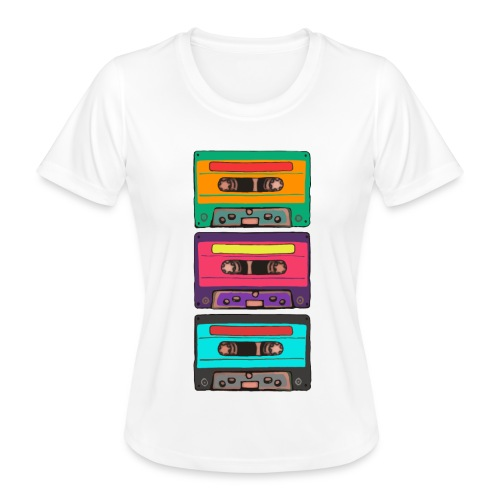 Colorful Cassettes row - Funktions-T-shirt dam