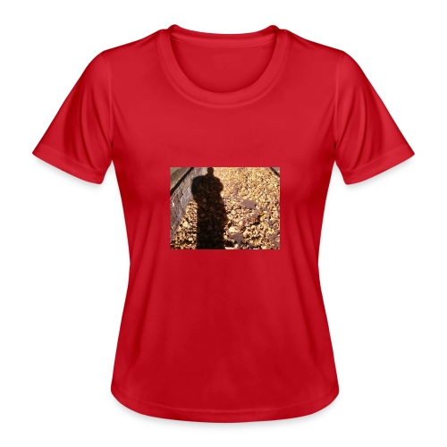 THE GREEN MAN IS MADE OF AUTUMN LEAVES - Women's Functional T-Shirt