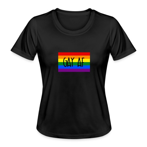 gay af - Frauen Funktions-T-Shirt