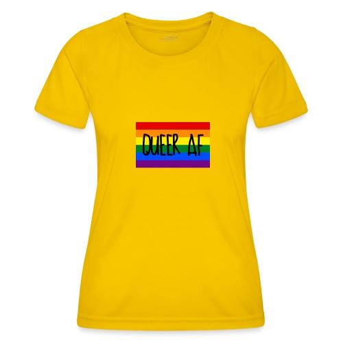 queer af - Frauen Funktions-T-Shirt