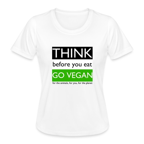 go vegan - Maglietta sportiva per donna