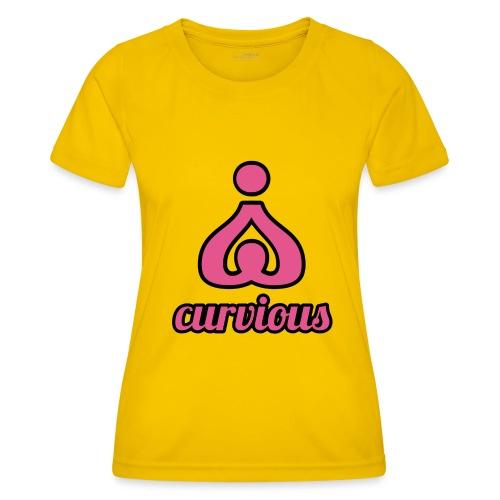 '' CURVIOUS '' PINK / BLACK - Women's Functional T-Shirt