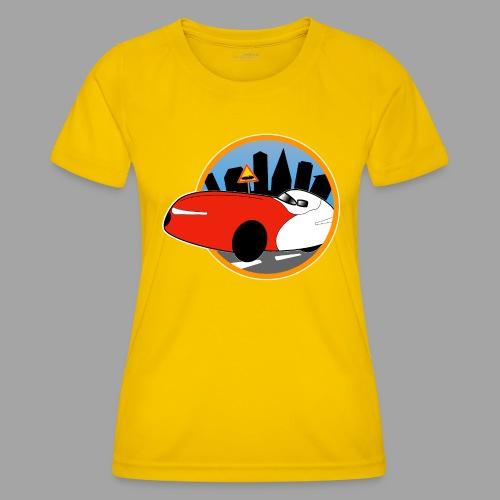 Velomobile-skyline - Naisten tekninen t-paita
