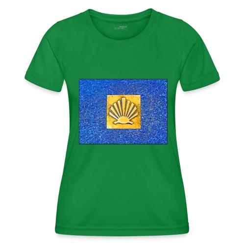 Scallop Shell Camino de Santiago - Women's Functional T-Shirt