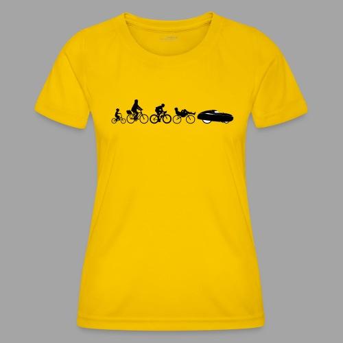 Bicycle evolution black - Naisten tekninen t-paita