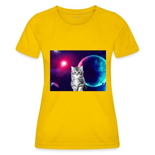 Cute cat in space - Naisten tekninen t-paita