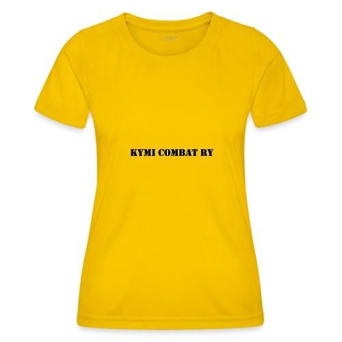 kc musta teksti transparent png - Naisten tekninen t-paita