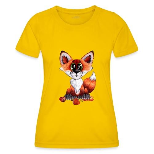 llwynogyn - a little red fox - Naisten tekninen t-paita