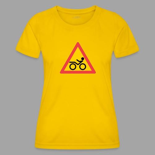 Traffic sign Recumbent - Naisten tekninen t-paita