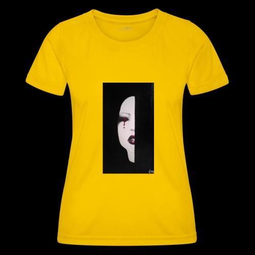 BlackWhitewoman - Maglietta sportiva per donna