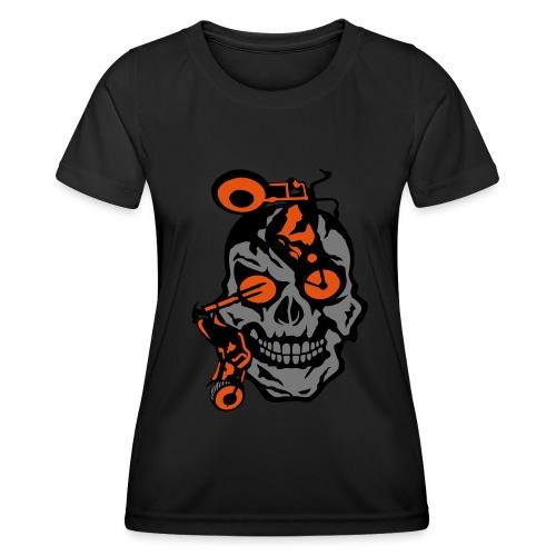 tete mort moto motrocycle oeil skull - T-shirt sport Femme