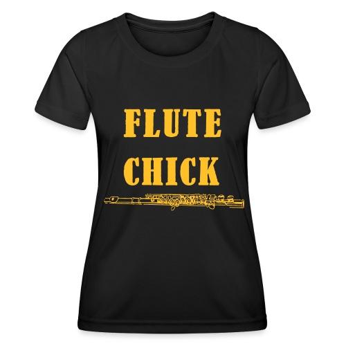 Flute Chick - Funksjons-T-skjorte for kvinner