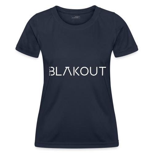 Bläkout -logo valkoinen - Naisten tekninen t-paita