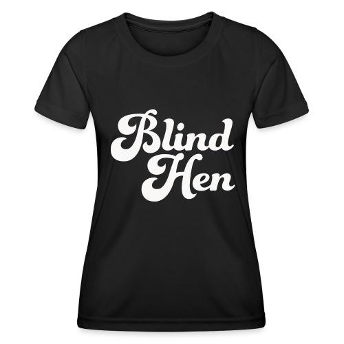 Blind Hen - Logo T-shirt, slim fit, black - Women's Functional T-Shirt