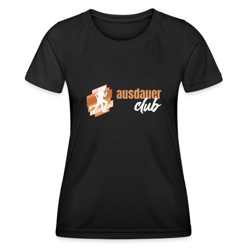 ausdauerclub weiss - Frauen Funktions-T-Shirt