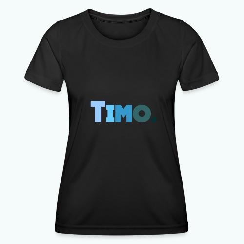 Timo in blauwe tinten - Functioneel T-shirt voor vrouwen