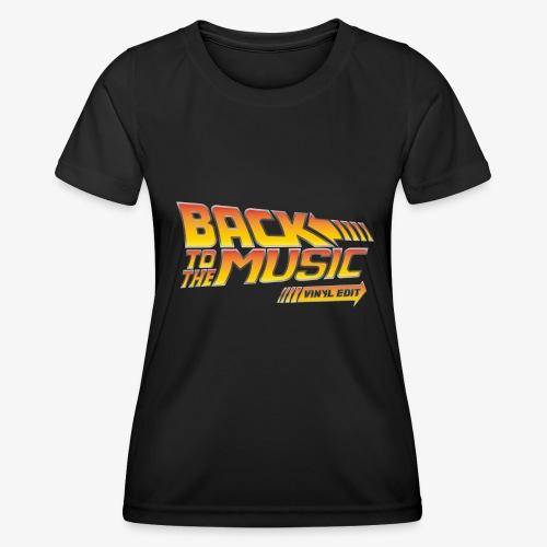Back to the music Vinyl Edit - T-shirt sport Femme