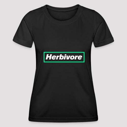 Herbivore Logo White - Maglietta sportiva per donna