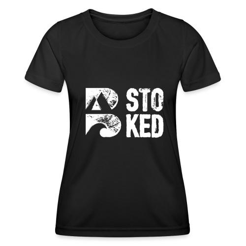 bstoked logo white - Women's Functional T-Shirt