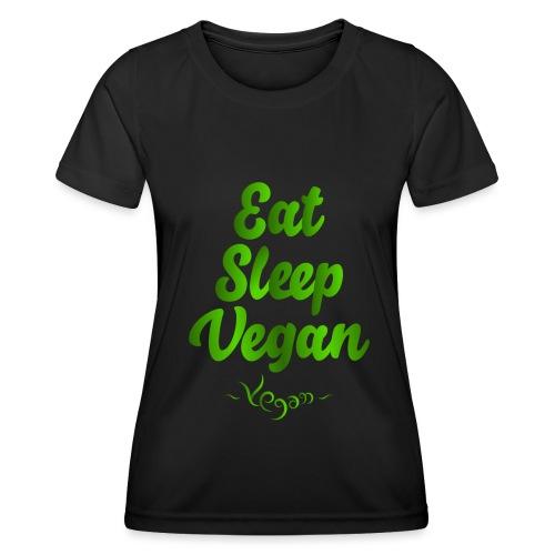 Eat Sleep Vegan - Naisten tekninen t-paita