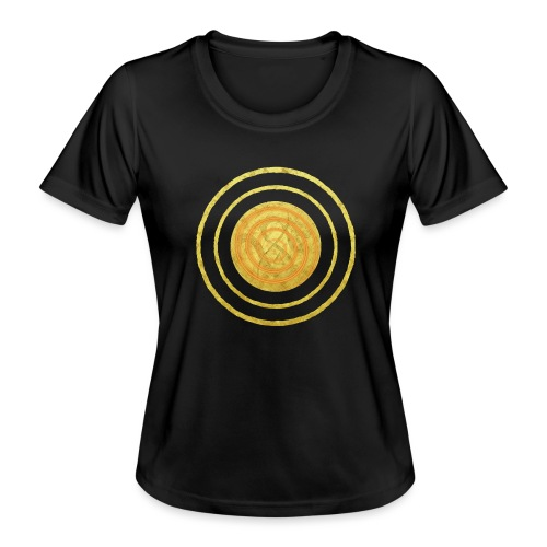 Glückssymbol Sonne - positive Schwingung - Spirale - Frauen Funktions-T-Shirt