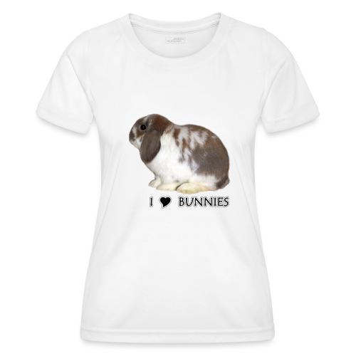 I Love Bunnies Luppis - Naisten tekninen t-paita