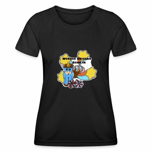 Une merveilleuse licorne est née (pour garcon) - T-shirt sport Femme