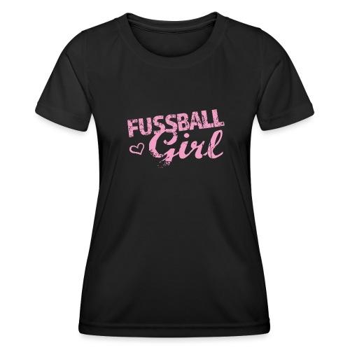 Fußball Girl - Frauen Funktions-T-Shirt