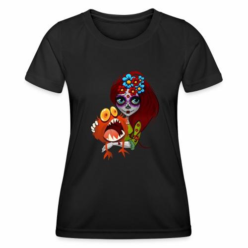 Catrina con Monstruo - Camiseta funcional para mujeres