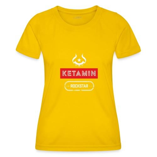 KETAMIN Rock Star - Weiß/Rot - Modern - Women's Functional T-Shirt