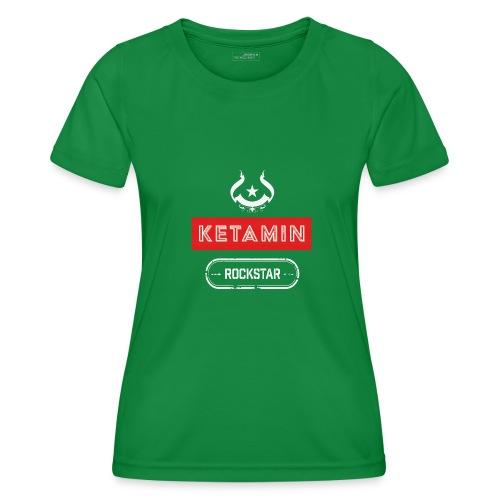 KETAMIN Rock Star - White/Red - Modern - Women's Functional T-Shirt