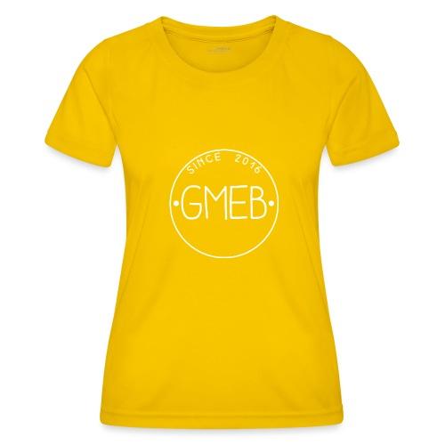 doorschijnend LOGO WIT - Functioneel T-shirt voor vrouwen