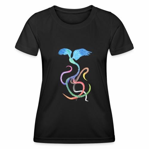 Gracieux - Oiseau arc-en-ciel à l'encre - T-shirt sport Femme