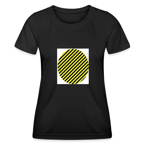 varninggulsvart - Funktions-T-shirt dam